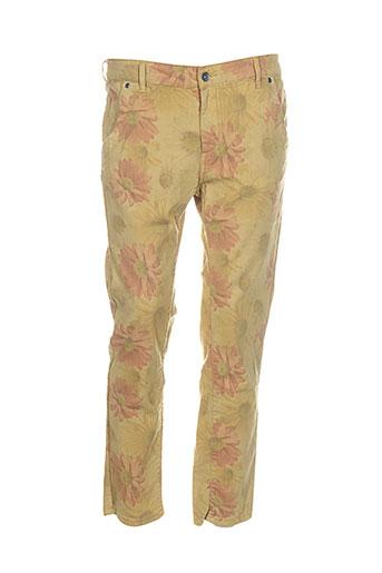couturist pantalons et decontractes femme de couleur jaune