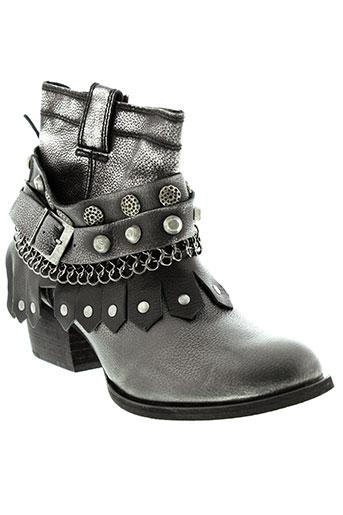 republyka boots femme de couleur gris