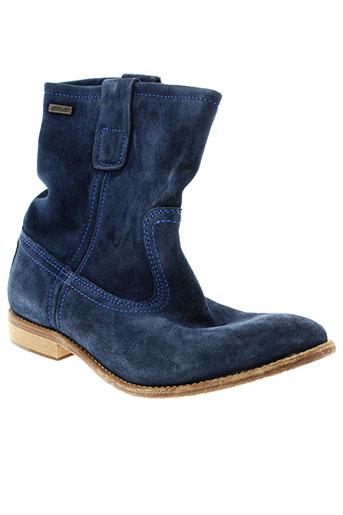 bee et fly boots femme de couleur bleu