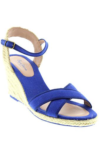 pepe et jeans sandales et nu et pieds femme de couleur bleu