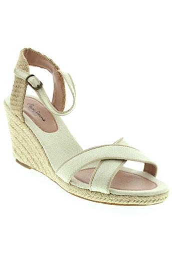 pepe et jeans sandales et nu et pieds femme de couleur beige