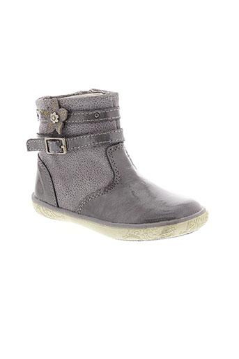 noel boots fille de couleur gris