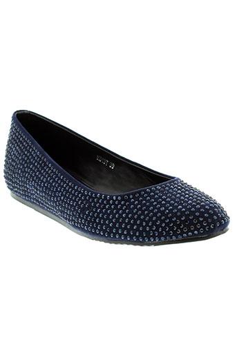 francesco milano chaussures femme de couleur bleu