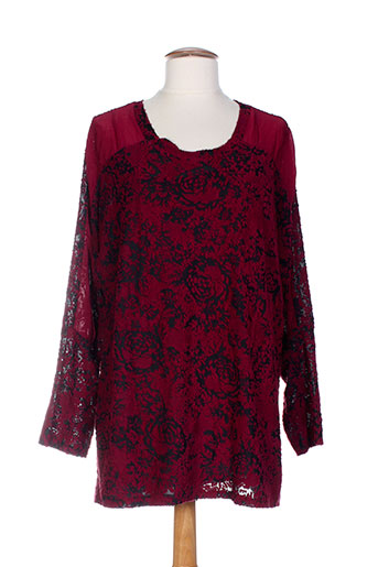 piment rouge tuniques femme de couleur rouge