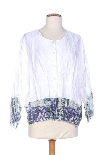 kakie vestes femme de couleur blanc