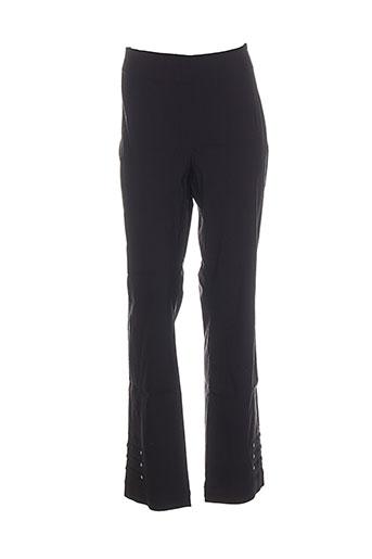 emoi by emonite pantalons femme de couleur noir