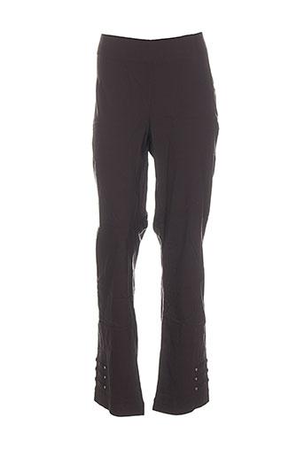 emoi by emonite pantalons femme de couleur gris