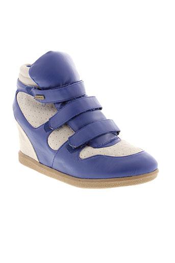 ilario ferucci chaussures femme de couleur bleu