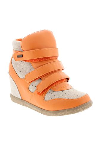 ilario ferucci chaussures femme de couleur orange
