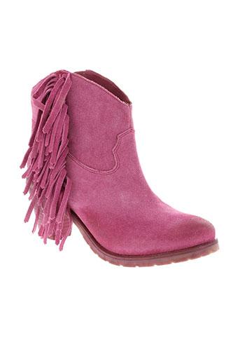 ilario et ferucci boots femme de couleur rose