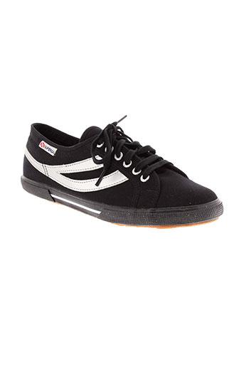 superga chaussures unisexe de couleur noir
