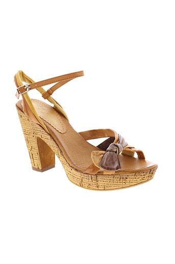 metamorf'ose chaussures femme de couleur marron