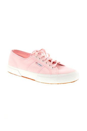 superga chaussures femme de couleur rose