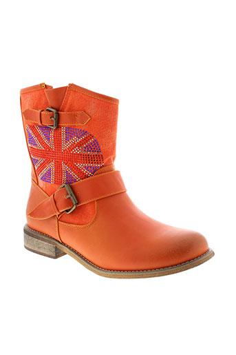 cassis et cote et d et azur boots femme de couleur orange