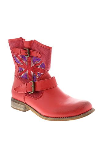 cassis et cote et d et azur boots femme de couleur rouge