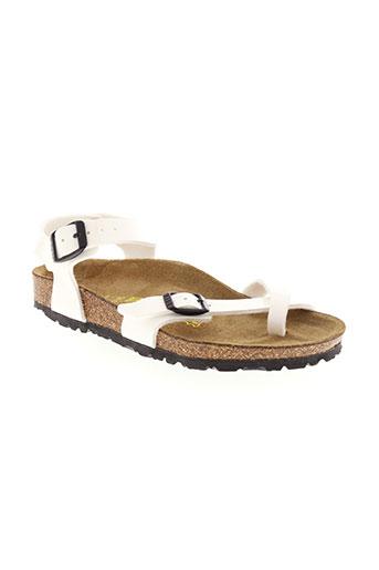birkenstock sandales et nu et pieds fille de couleur blanc