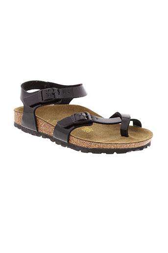 birkenstock chaussures fille de couleur noir