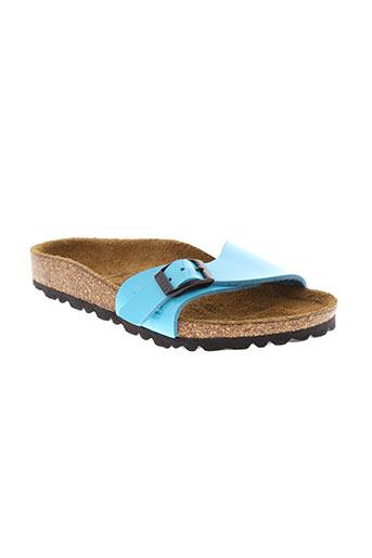 birki's chaussures fille de couleur bleu