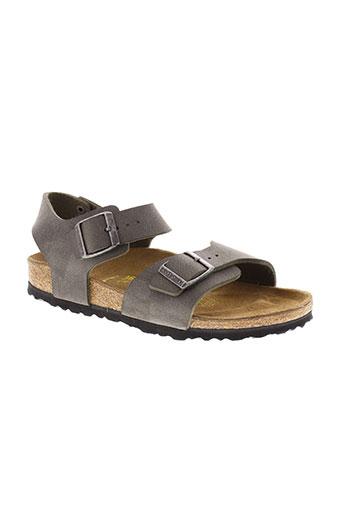 birkenstock sandales et nu et pieds femme de couleur gris