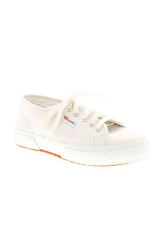 superga chaussures enfant de couleur blanc