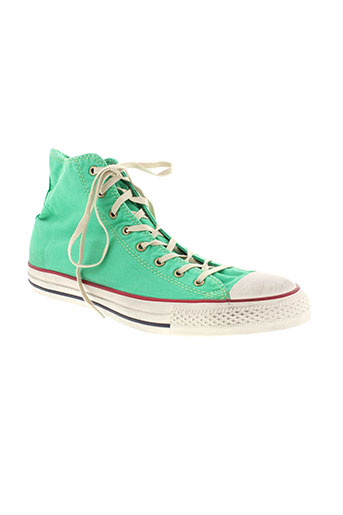 converse chaussures unisexe de couleur vert