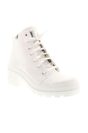 no box chaussures femme de couleur blanc