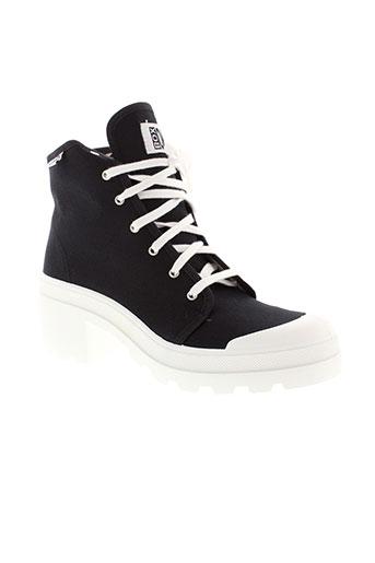 no box chaussures femme de couleur noir
