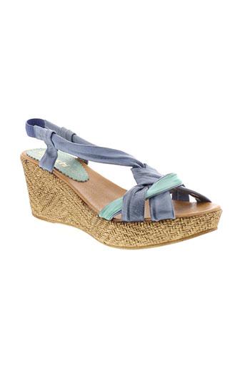 bertuchi sandales et nu et pieds femme de couleur bleu