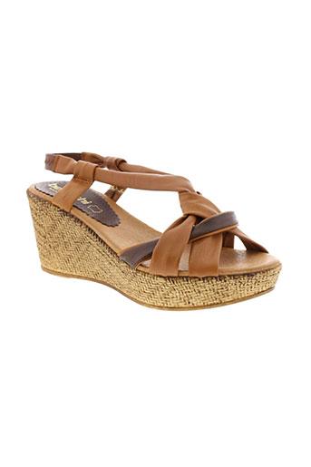 bertuchi sandales et nu et pieds femme de couleur marron