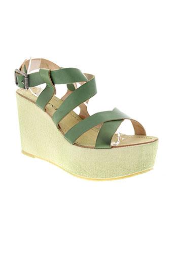 meline chaussures femme de couleur vert