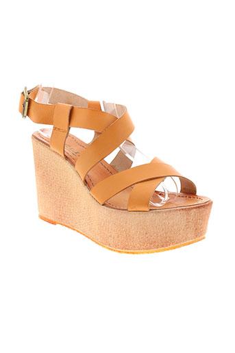 meline sandales et nu et pieds femme de couleur orange
