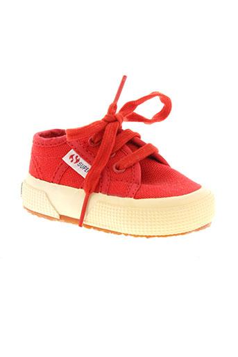 superga chaussures enfant de couleur rouge