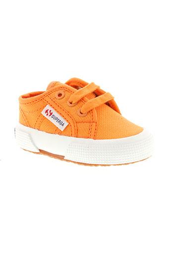 superga chaussures enfant de couleur orange