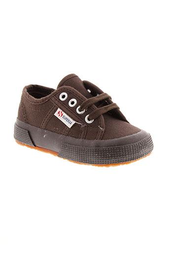 superga chaussures enfant de couleur marron