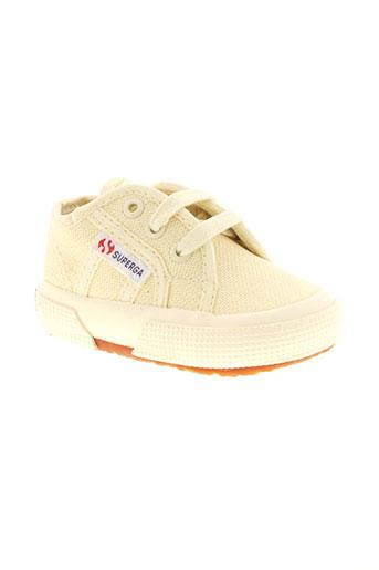superga chaussures enfant de couleur beige