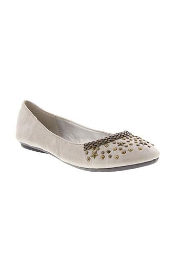 playa chaussures femme de couleur gris