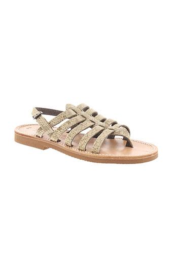 griffe et noire sandales et nu et pieds fille de couleur beige