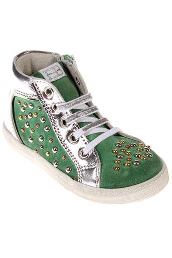 eb chaussures fille de couleur vert