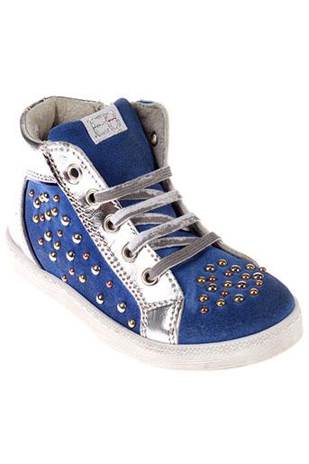 eb chaussures fille de couleur bleu