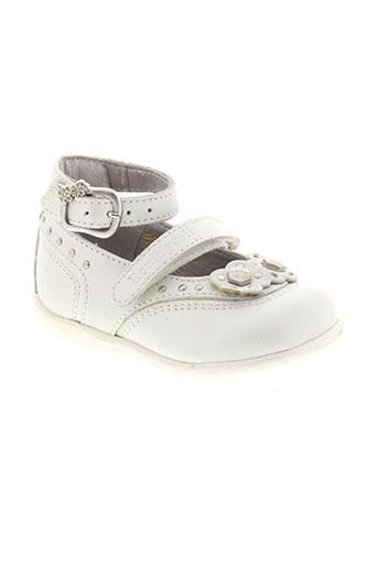 romagnoli chaussures fille de couleur blanc