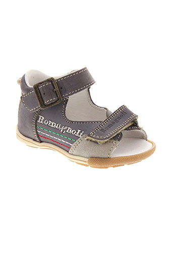 romagnoli chaussures enfant de couleur gris