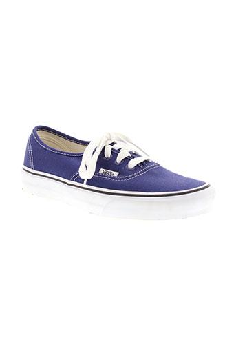 vans chaussures femme de couleur bleu