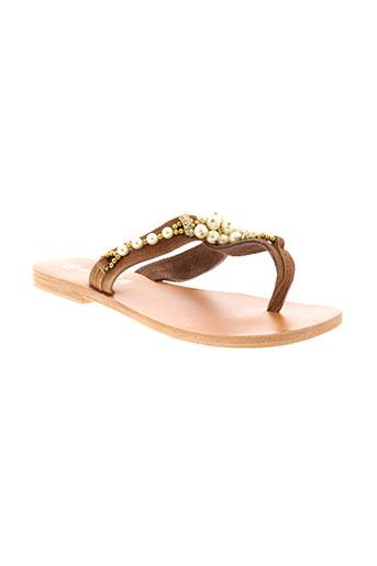 adriana del nista chaussures femme de couleur marron
