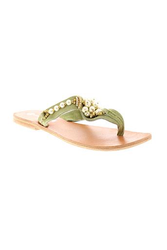 adriana del nista chaussures femme de couleur vert