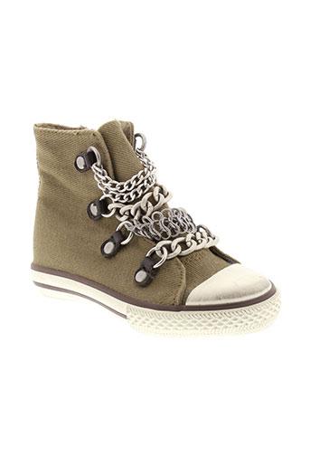 ash chaussures fille de couleur vert