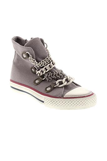 ash chaussures fille de couleur gris