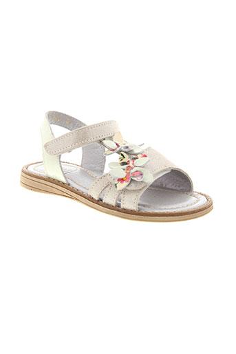 tty sandales et nu et pieds fille de couleur blanc