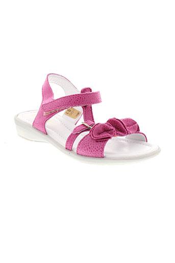 gbb sandales et nu et pieds fille de couleur rose