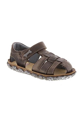 stones et and et bones sandales et nu et pieds garcon de couleur marron