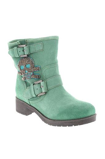 ilario et ferucci boots femme de couleur vert